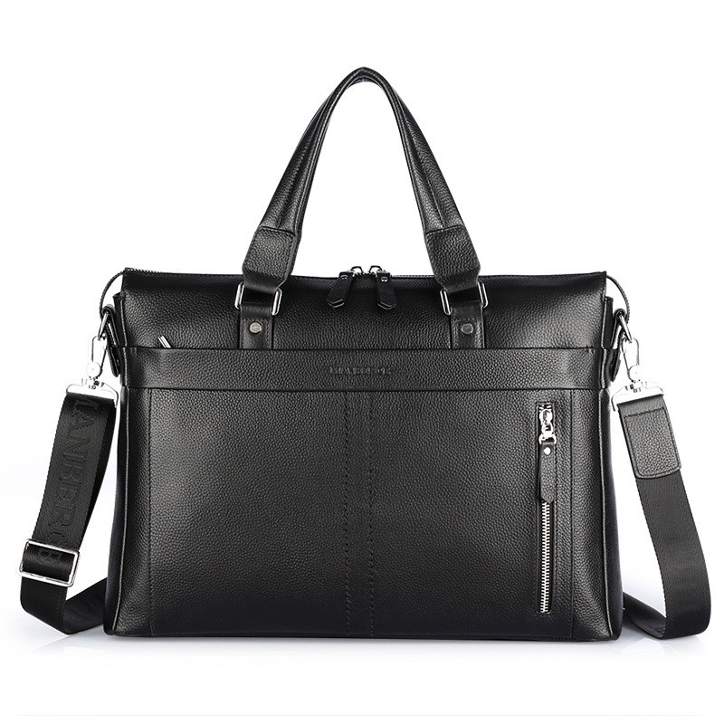 100 Cowhide men s briefcase business bags Genuine leather fashion Shoulder Messenger bag handbags Brand Design