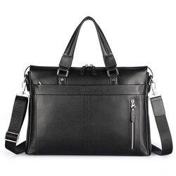 100% мужской портфель из воловьей кожи, деловые сумки из натуральной кожи, модная сумка через плечо, сумки, брендовые Дизайнерские мужские сум...