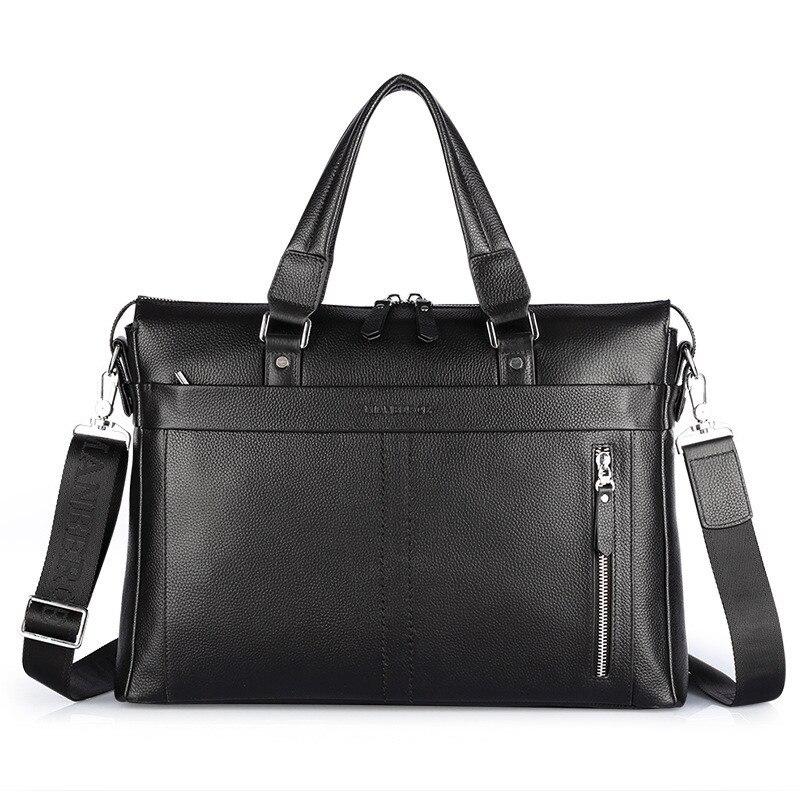 100% Cowhide กระเป๋าเอกสารผู้ชาย business กระเป๋าหนังแท้กระเป๋าหนังแฟชั่นไหล่ Messenger กระเป๋ากระเป๋าถือยี่ห้อออกแบบกระเป๋า-ใน กระเป๋าเอกสาร จาก สัมภาระและกระเป๋า บน   1