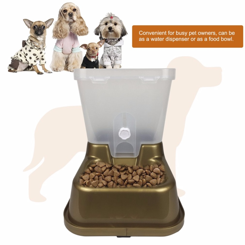 Automatic Pet Feeder Dogs Cats Food Bowl PP Plastic Non toxic Food ...