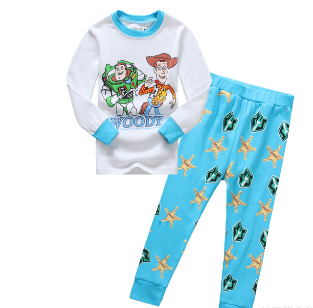 f061181bd9 New Baby Boys Girls Buzz Lightyear Pajamas Children Toy Story Long Sleeves Sleepwear  Kids Woody Clothes Suit