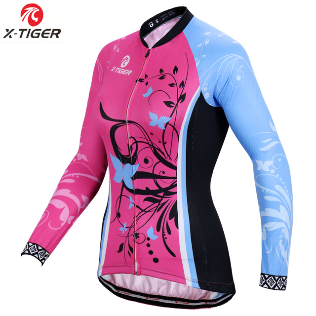 X-Tiger Women Winter Pro Cycling Jersey Fleece Thermal Cycling Bike Wear  Keep Warm Cycling MTB Bicycle Clothing Ropa De Ciclismo c94f64162
