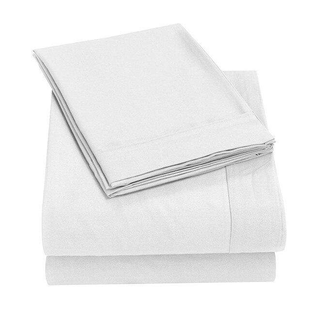 Супер шелковистая мягкая-1500 нить количество египетское качество Роскошный морщин, выцветание, пятнистость стойкая Комплект постельного белья лист комплект