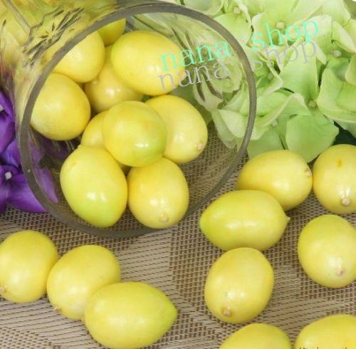 2015 Caixas Decorativas Noivinho Para Bolo Elf Ears Artificial Mini Lemons Faux Fruit Fake Food House Kitchen Decor Teachi Props