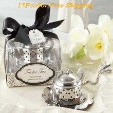 15 шт./лот) причудливые Свадебные сувениры чайный напиток свадебные подарки для свадьбы и вечеринки чай Тематические Свадебные сувениры