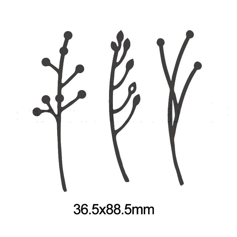 Васильковые травы эвкалиптовая ветка цветы металлические Вырубные штампы для поделок скрапбукинга бумажные открытки, декоративные поделки новые штампы - Цвет: Picture 10