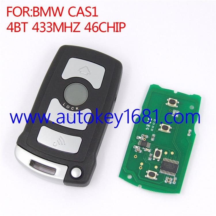 Remote control smart card car key for BMW CAS1 7 Series 4button 433MHZ ID46 transponder chip