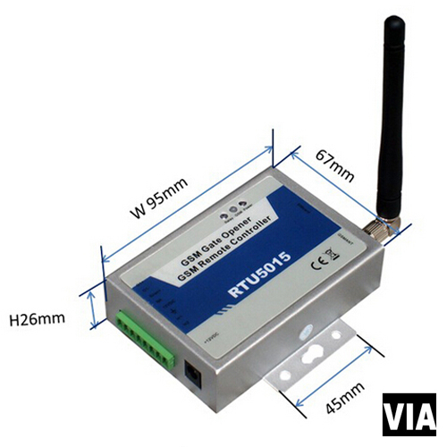 RTU5015 Direct Factory Sales Wireless GSM gateway 2 Digital Input Automatic Gate Opene By SMS for door opener alarm system factory price for the driving 300 kgs sliding gate opener villa automatic door machine con maquinas inteligentes abre la puert