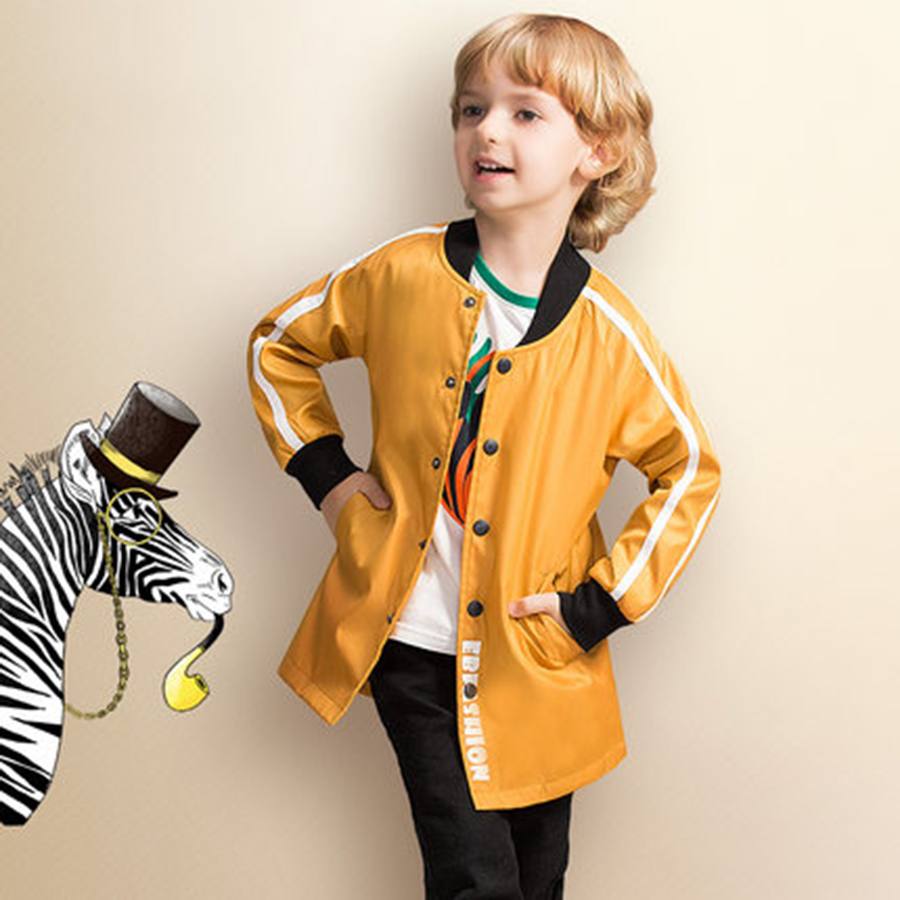 где купить Spring Autumn Children Jacket Windbreaker Boys Outerwear Korean Long Soft Fashion Kids Boys Windbreaker Jacket Brands 70F1587 по лучшей цене