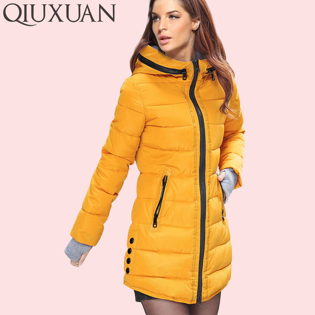 65a50446d4 Warm Winter Jackets Women Fashion Down Cotton Parkas Casual Hooded Long  Coat Thickening Zipper Slim Fit