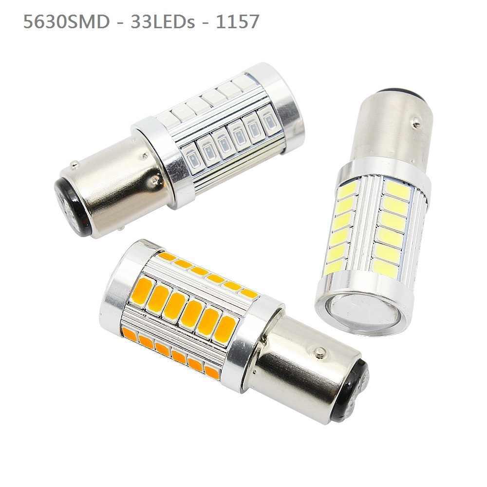 ANBLUB 1 pièces 1156 1157 7440 T20 voiture tournant la lumière 33 SMD 5630 5730 Auto queue frein lumière inverse ampoule Signal lampe 12V DRL lumières