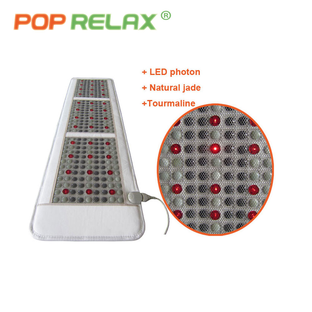 где купить  POP RELAX Korea quality health mattress jade tourmaline LED photon light therapy heating physiotherapy mat FIR stone massage mat  дешево
