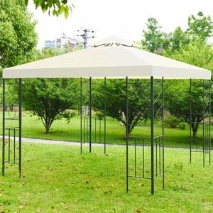 Giantex 2 niveles 10 'x 10' Gazebo de Patio dosel tienda marco de acero refugio toldo muebles al aire libre OP3516