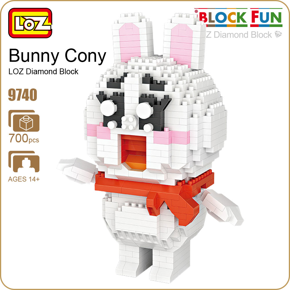 LOZ Diamond Blocks Rabbit Toy Building Blocks Figures Educational Toys For Kid Diy Action Figure Anime DIY Animal Cartoon 9740 loz 280pcs l 9522 deadpool action figure building block educational diy toy