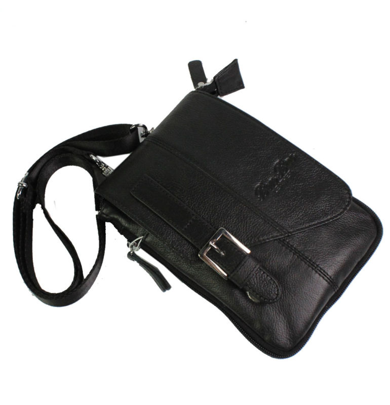 Men's Leather Snaps Hook Shoulder Messenger Pack Pouch Fanny Waist Bag New Wallet Multipurpose new pu leather cell mobile phone case small messenger shoulder cross body belt bag men fanny waist hook pack
