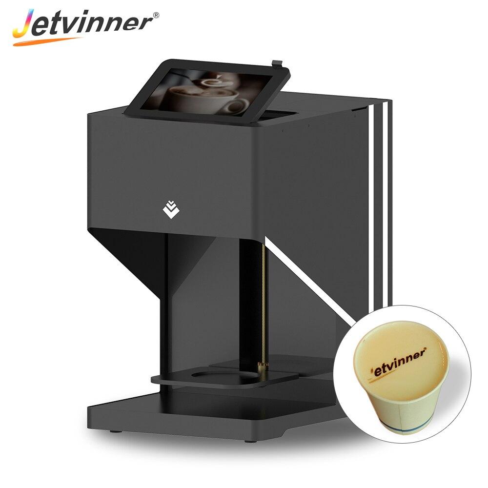 Jetvinner Automatic Digital Coffee Printer Inkjet Latte Printers for Latte Cookie Bread Milk Tea Beer Candy