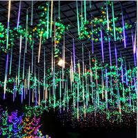 1set 10 tube 50cm 54 leds waterproof Meteor Shower Rain Tubes Led Light 220V 110v Outside Christmas Wedding Garden Tree Holiday