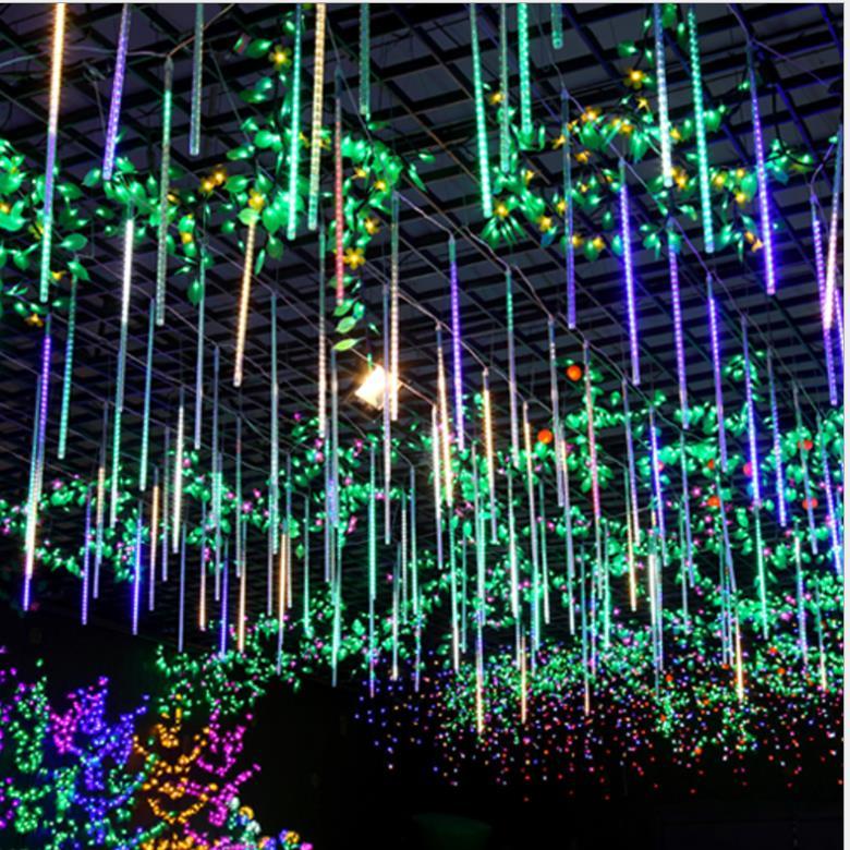 1set 10 Tube 50cm 54 Leds Waterproof Meteor Shower Rain Tubes Led Light 220V 110v Outside Christmas Wedding Garden Tree Holiday