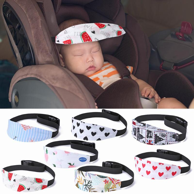 Baby Stroller Sleeping Head Body Support Belt Baby Cars Seat Sleep Nap Aid Head Band Printed Infant Carriage Travel Safety Belt