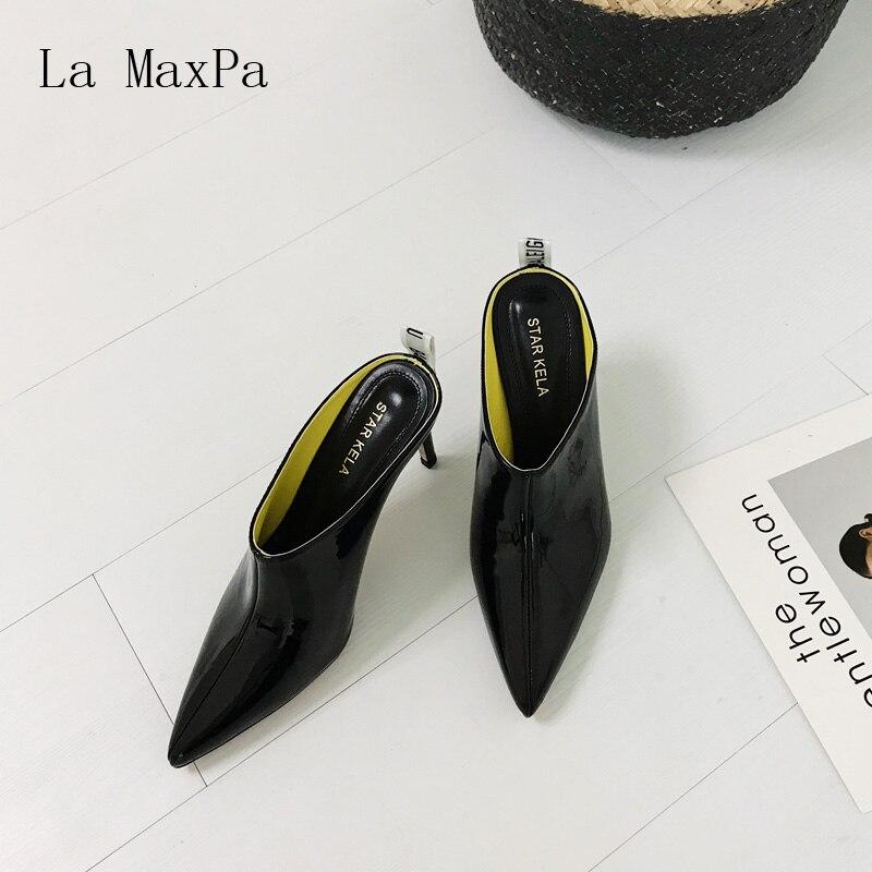Maxpa Bout Confortable Qualité Pointu Black Élégant Hauts Bouche Supérieure white Microfibre Ultra Talons Profonde Simple Sexy La Peu fCn1dwq76f