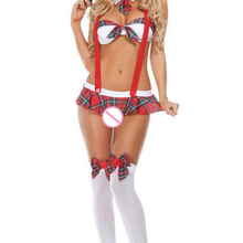 New Womens School Girl Costume Sexy Lingerie Uniform Halloween Cosplay Fancy Clothes Hot Erotic Role-Playing