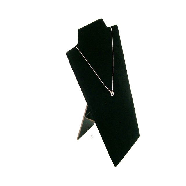 Necklace Display Board Jewelry Display Props Pendant Stand Holder Easel in black velvet Showcase  12.3*22.5cm