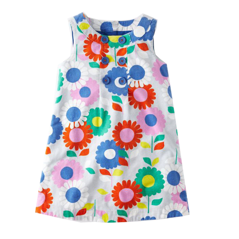 A-Line Dresses Girls Floral Clothes 2018 Brand Children Summer Dress Princess Costume for Kids Tunic Vestidos Baby Girl Dress