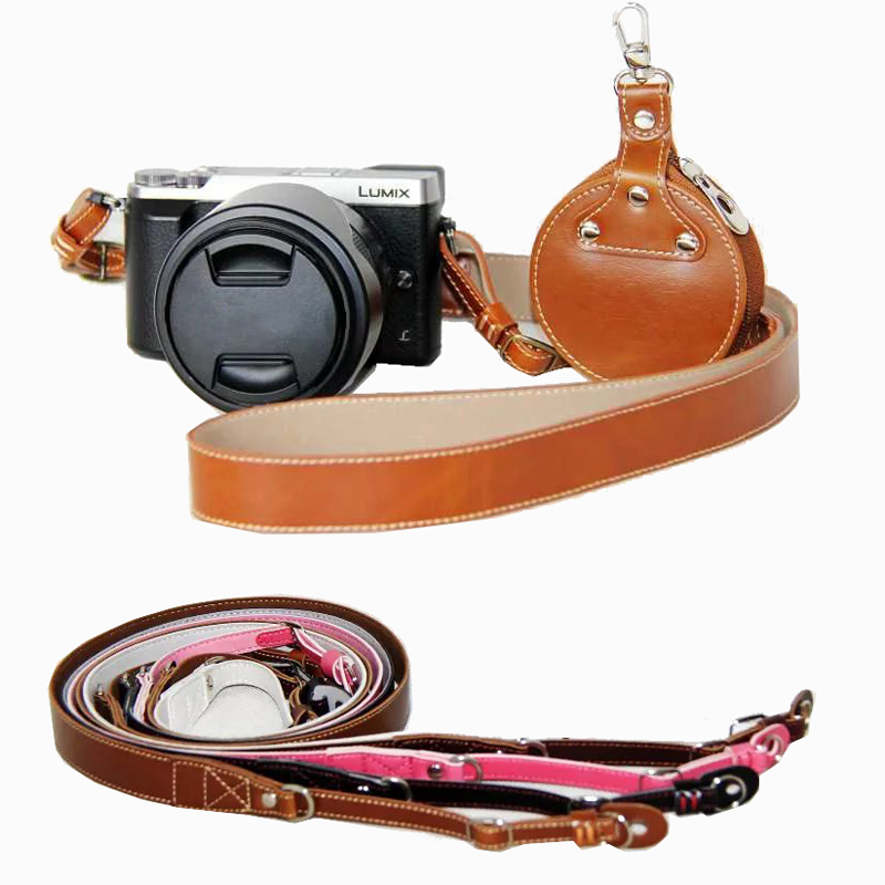 high quality PU Leather Neck Shoulder Camera Strap for Sony A580 HX300 HX400 H400 A99 A77 A7 A7RII A7III NEX5T NEX6 A6300 A6500