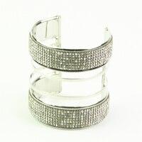 Rhinestone Wide Cuff Bracelets For Women Bangle Jonc Viking Carter Love Bracelet Fred Metal Bracelets Bangles