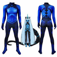 Dragon Princess 001 Darling in the Franxx Cosplay Costume 3D Printed Lycra Spandex Zentai Halloween Catsuit