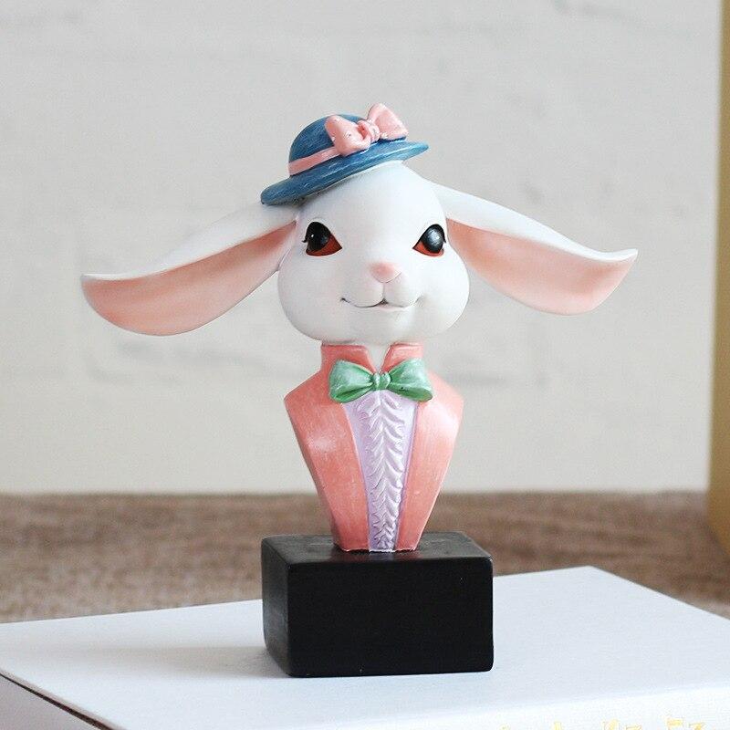 Animal Eyeglasses Sunglasses Stand Holder Rack Easter Deer Figurines Miniatures Bunny Ornaments Home Decoration Accessories
