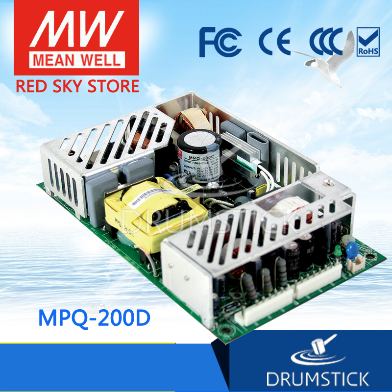 MEAN WELL MPQ-200D meanwell MPQ-200 200W Quad Output Medical Type new worthwhile free shipping mean well mpt 200c 2pcs meanwell mpt 200 200w triple output medical type