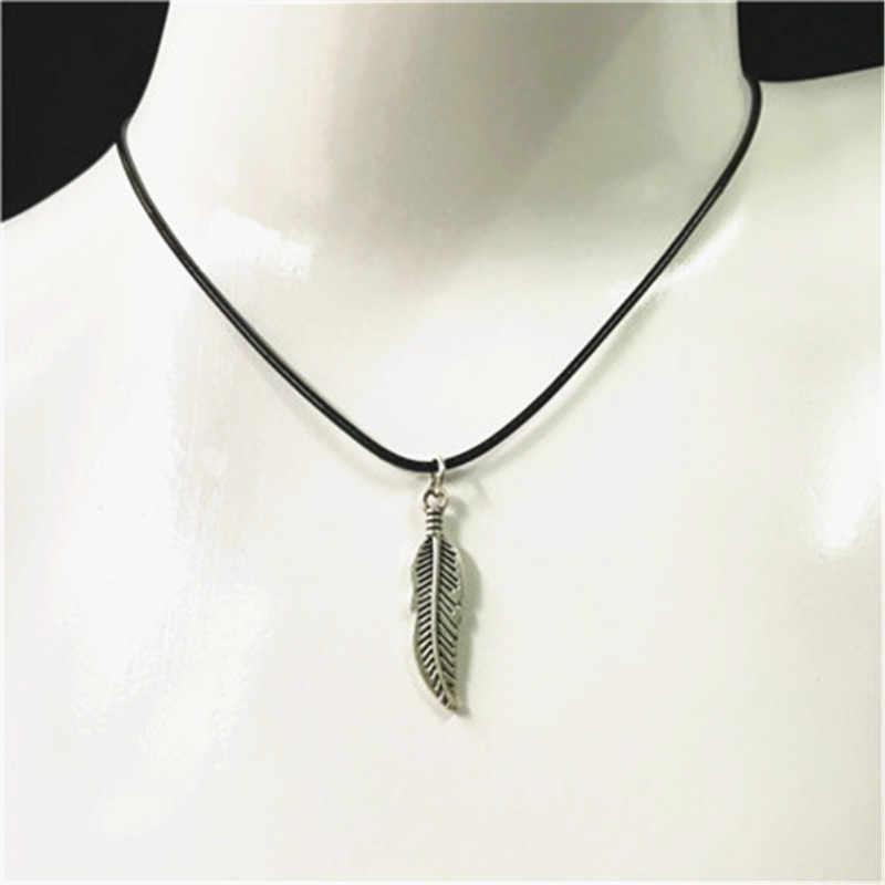 18 סגנון חדש חם כנף נוצת ינשוף גולגולת דגי פרפר כדור עור שרשרת לגברים זכר תליון תכשיטי מתנות