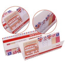 50 pcs British Style Memo Pad Stationery Sticker Monolithic