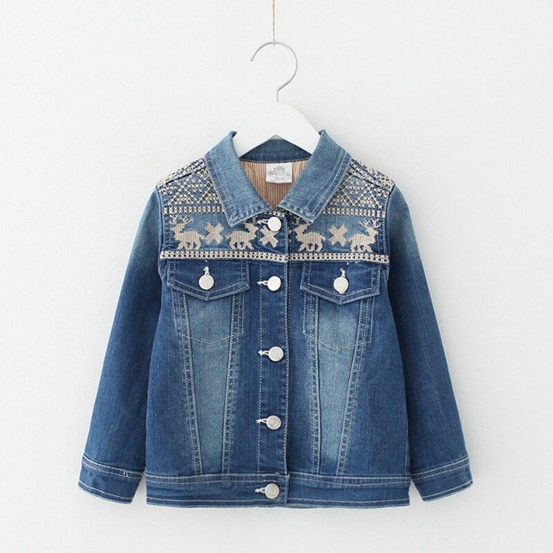 font b Baby b font embroidery jean jacket girls children s wear children of new