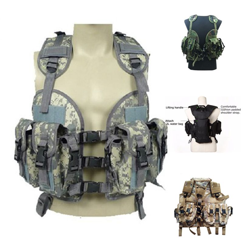 Outdoor Military Camouflage Hunting Shooting Vest Army Traning Combat Protection Tactical Vest Paintball War Game Airsoft Gear