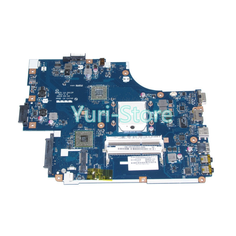 NOKOTION MBNA102001 MB.NA102.001 For Acer aspire 5551 5551G E640 Laptop Motherboard Socket s1 NEW75 LA-5912P DDR3 Free cpu nbmny11002 nb mny11 002 for acer aspire e5 511 laptop motherboard z5wal la b211p n2940 cpu ddr3l