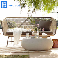 hotselling Garden Aluminium Frame Sofa Set Rope Outdoor Furniture