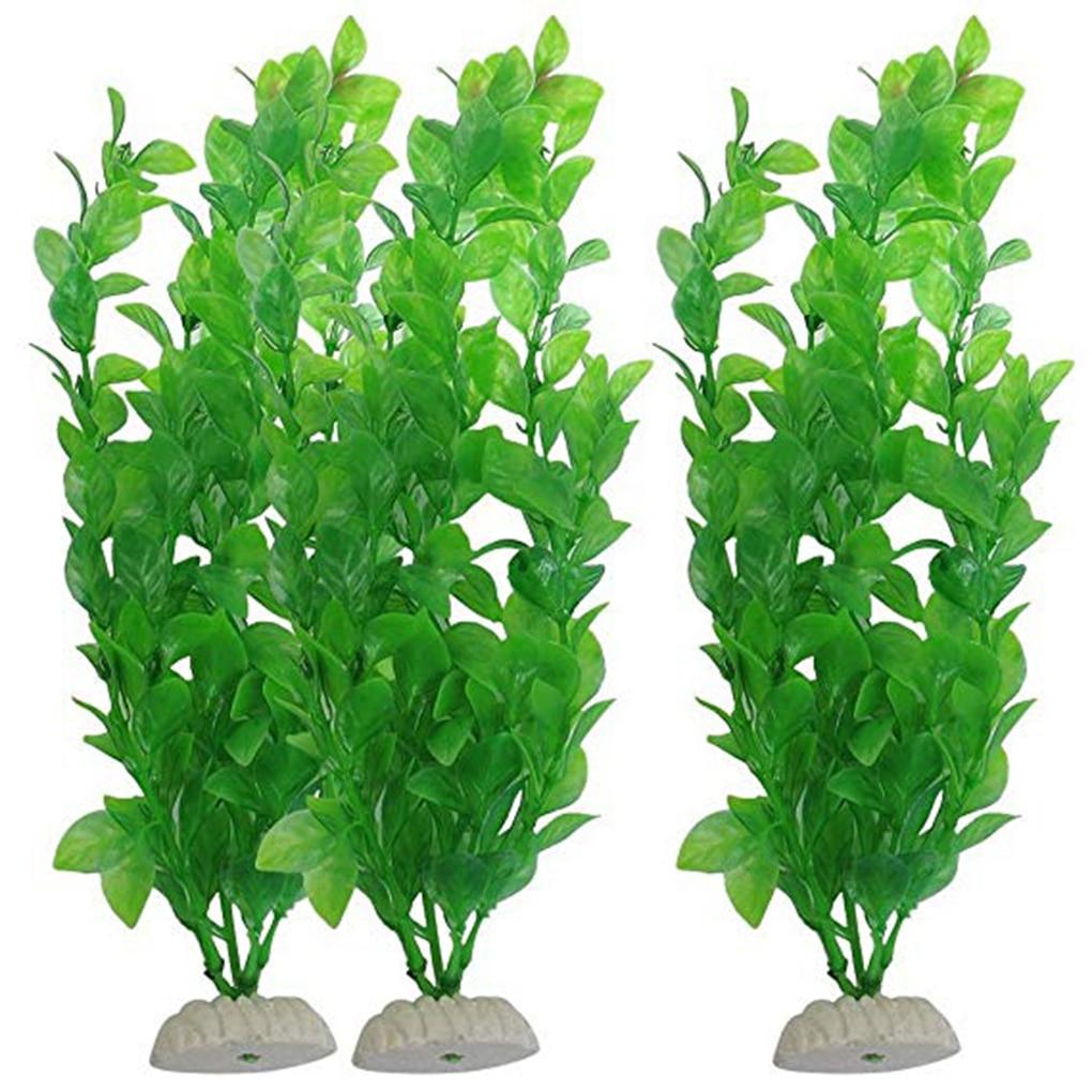Artificial Green Seaweed Vivid Water Plants Plastic Fish Tank Plant Decorations For Aquarium