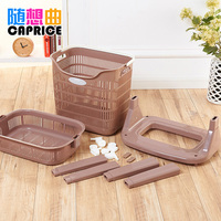 The dirty laundry basket basket plastic storage basket of dirty clothes dirty clothes barrel laundry storage basket large laundr