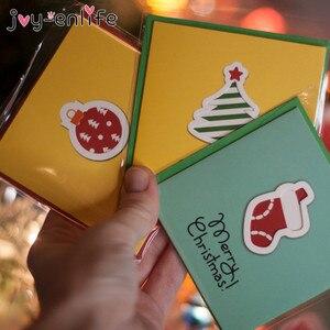12pcs Creative Merry Christmas Small Greeting Cards Kids Mini Christmas Greeting Cards New Year Postcard Gift Card Xmas Party