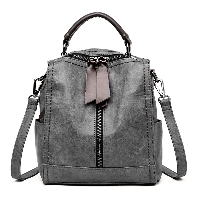 Backpack Female Quality Genuine Leather Women Backpacks School Bag Travel Multifunctional Bags Tote Bag Back pack on Shoulder backpack female genuine leather women backpacks school bag plaid strip multifunctional cow leather travel backpacks lf15833