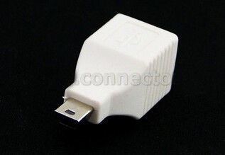 2017 New!!! 2PCS USB2.0 type B Female-male Mini USB 5pin converter adapter for mobile phone,MP3,MP4,tablet car usb sd aux adapter digital music changer mp3 converter for skoda octavia 2007 2011 fits select oem radios