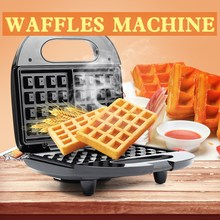 Electric Multifunctional Square Waffle Makers Machine Double Side Heating Design Donut Sandwich Muffin Toaster Machine