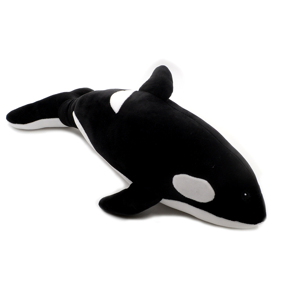 1pc 40cm <font><b>Killer</b></font> <font><b>whale</b></font> doll <font><b>plush</b></font> toy soft stuffed pillow cushion sea animal creature cartoon child ocean cute gift image