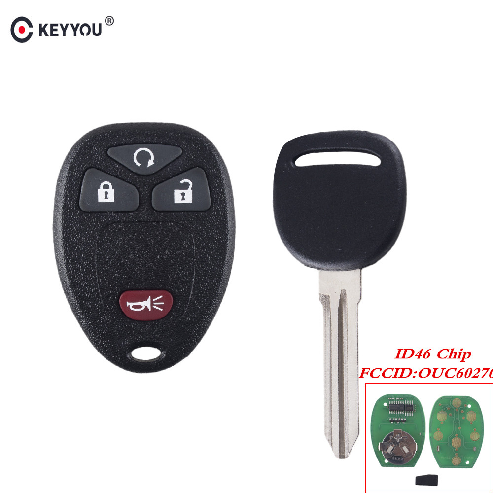 KEYYOU For GMC Acadia For Chevrolet Avalanche For Buick Enclave OUC60270 315Mhz Keyless Entry Remote Control ID46 TransmitterKEYYOU For GMC Acadia For Chevrolet Avalanche For Buick Enclave OUC60270 315Mhz Keyless Entry Remote Control ID46 Transmitter