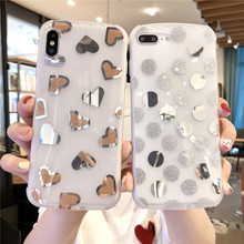 ELALA Luxury IMD Matte Case For iPhone 7 X Glitter Hot-stamping Soft Silicon Cover iphone XR XS MAX 6 6s 8Plus