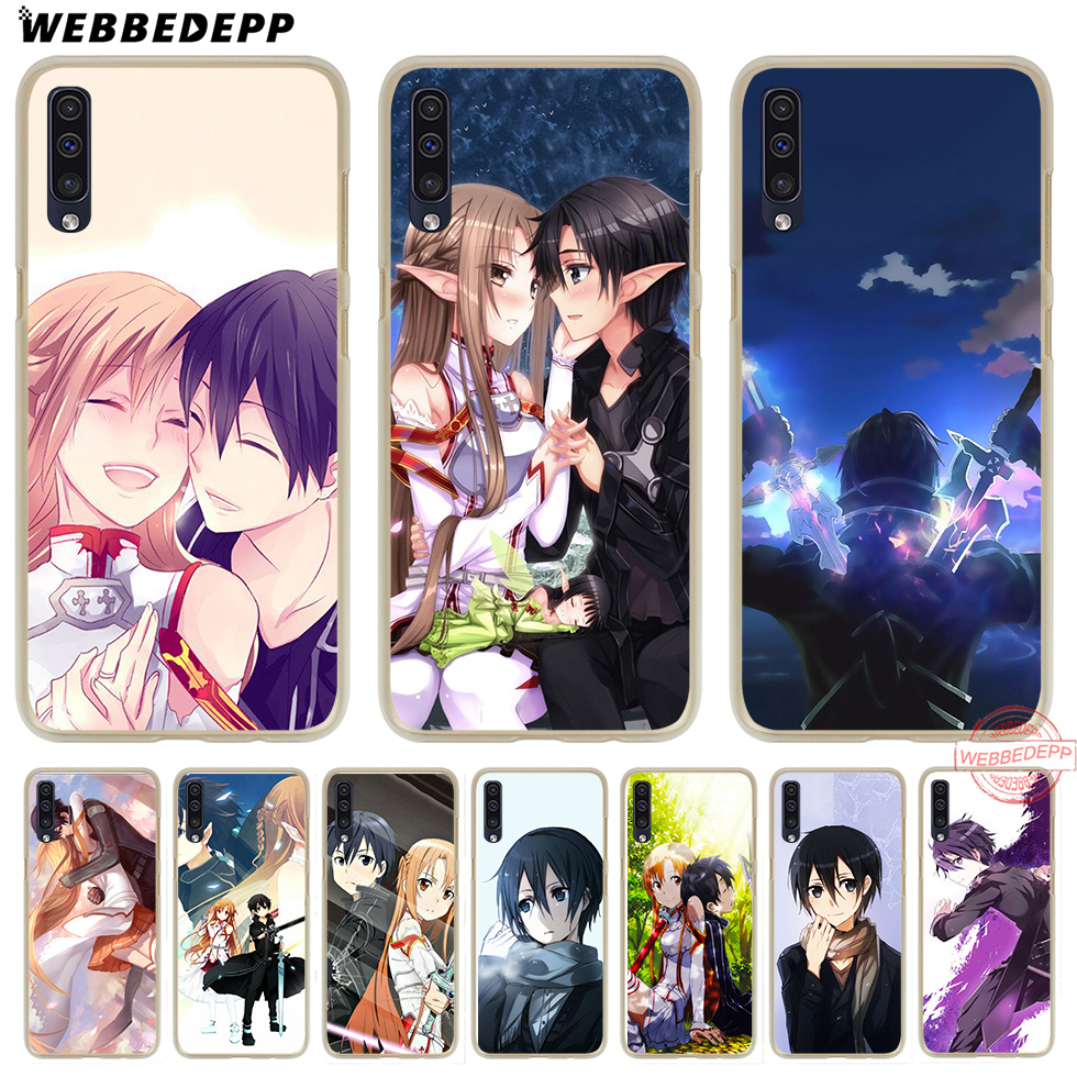 Punctual Webbedepp Sword Art Online Sao Japanese Anime Hard Transparent Phone Case For Samsung A10 A30 A40 A50 A70 M10 M20 M30 Cover Warm And Windproof Phone Bags & Cases Cellphones & Telecommunications