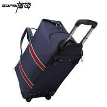 Quality Guaranteed Travel Luggage Waterproof Trolley Case Stylish Nylon Luggage Bags Black Blue Rolling Luggage mala de viagem