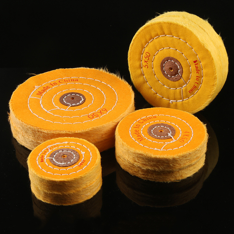 ZtDpLsd 1Pcs Cotton Polishing Wheel Sanding Disc Diameter Fiber Grinding Wheel For Metals Ceramics Marble Wood Crafts